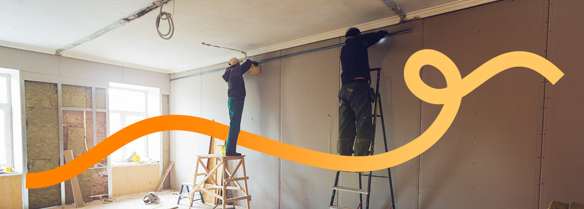 Installation plafond tendu
